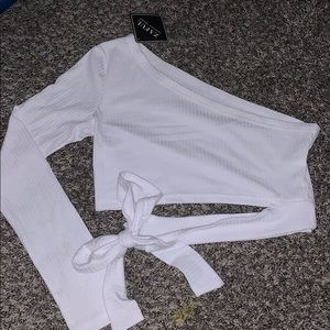 Zaful Tops - Brand New one shoulder+ tied crop top